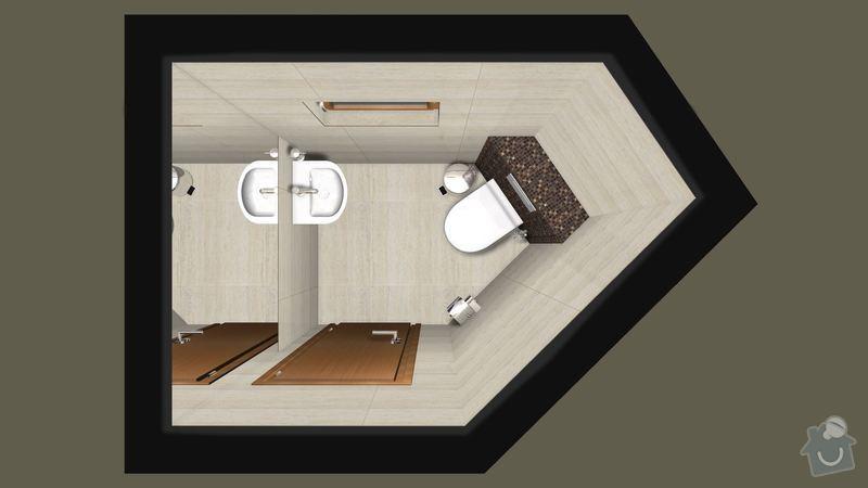 Rekonstrukce koupelny v RD: wc_pudorys