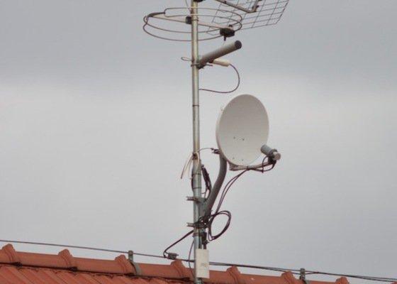 Montáž anténního stožáru na střechu