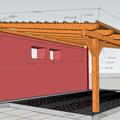 Konstrukce garazoveho stani pristresek stani14x14 rozmery4
