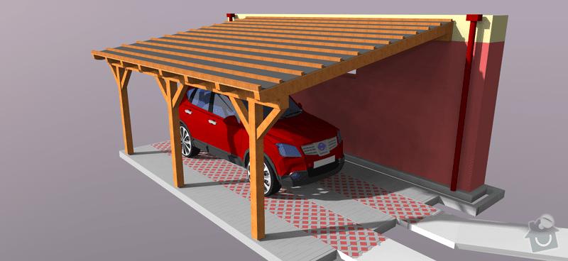 Konstrukce garazoveho stani - pristresek: stani14x14-1