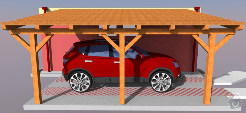 Konstrukce garazoveho stani - pristresek: stani14x14-5