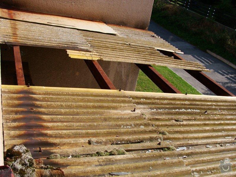 Oprava venkovní stříšky (cca 5x4m): DSC02542