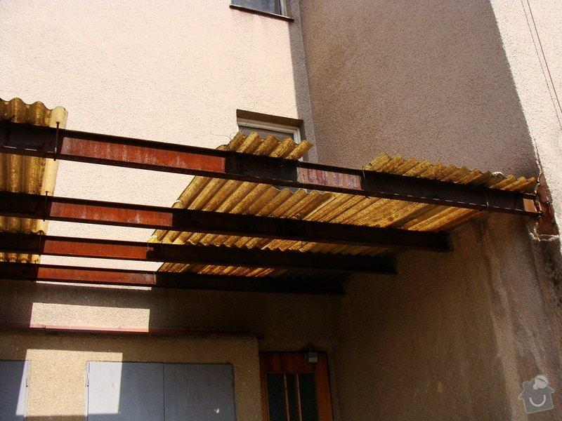 Oprava venkovní stříšky (cca 5x4m): DSC02544