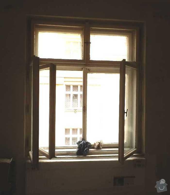 Lakovani oken a dveri, vymalovani bytu: okno-1