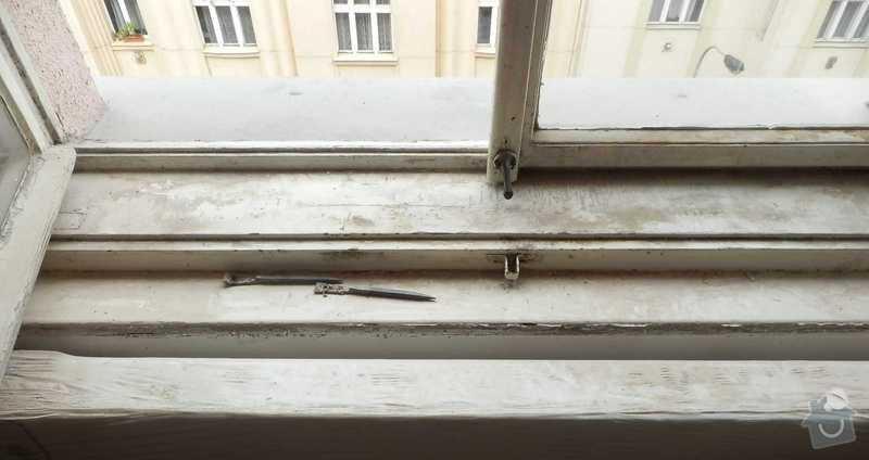 Lakovani oken a dveri, vymalovani bytu: okno-2