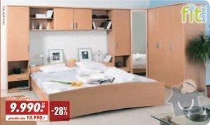 Truhlářské práce - rohová skříň a postel na míru: loznice_2