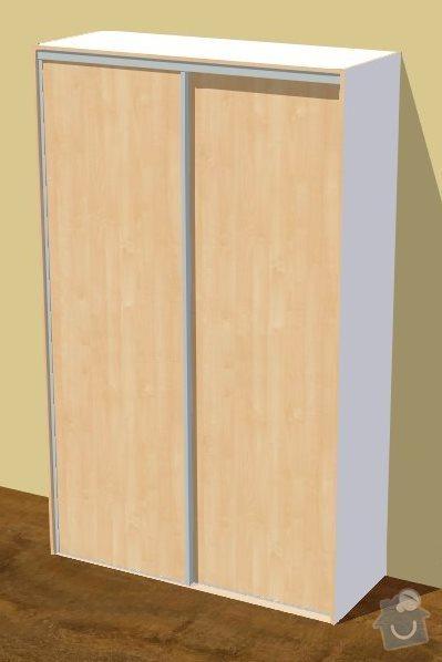 Vestavěná skříň do předsíně: predsin_dvere_3D