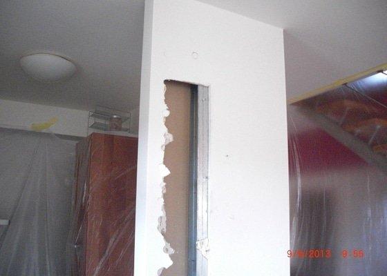 Sadrokartonova pricka - zbourani a stavba nove