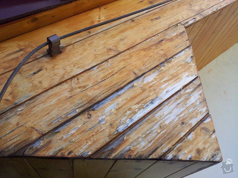 nátěr palubek pod střechou rodinného domu: 1309palubky_zle
