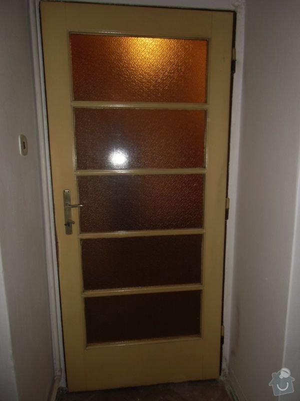Lakování dveří + futer, lakování oken: Dvere