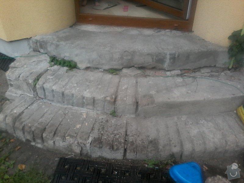 Kulaté schody ze žuly: schody-veranda