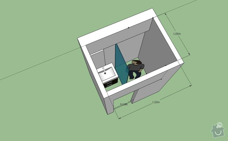 Rekonstrukce koupelny, WC a položení keramické dlažby v kuchyni: koupelna_navrh_v3