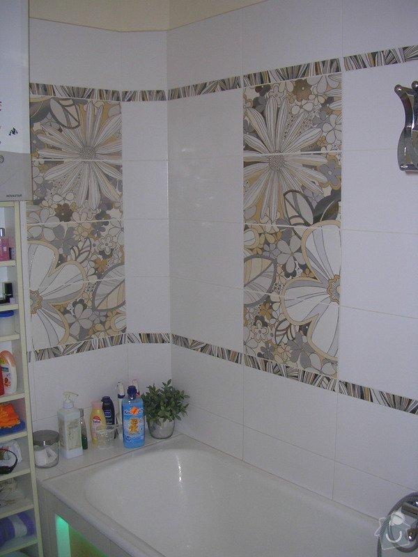 Modernizace koupelny a WC - provedení obkladů a dlažeb: DSCN7358