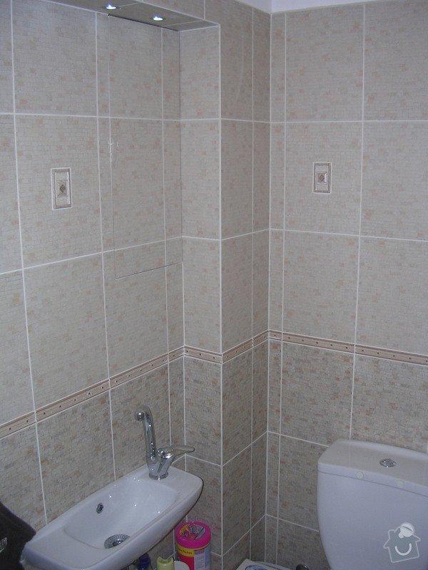 Modernizace koupelny a WC - provedení obkladů a dlažeb: DSCN7355