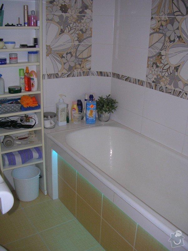 Modernizace koupelny a WC - provedení obkladů a dlažeb: DSCN7356