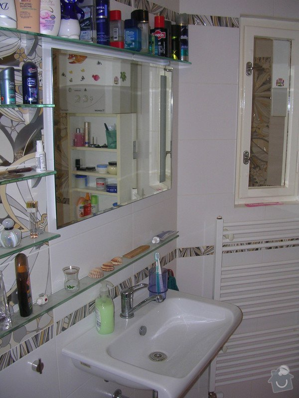 Modernizace koupelny a WC - provedení obkladů a dlažeb: DSCN7357