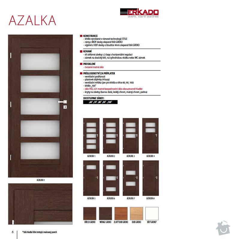 Interiérové dveře: azalka