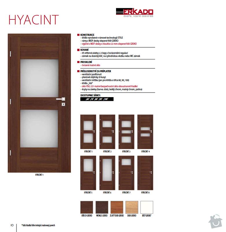 Interiérové dveře: hyacint