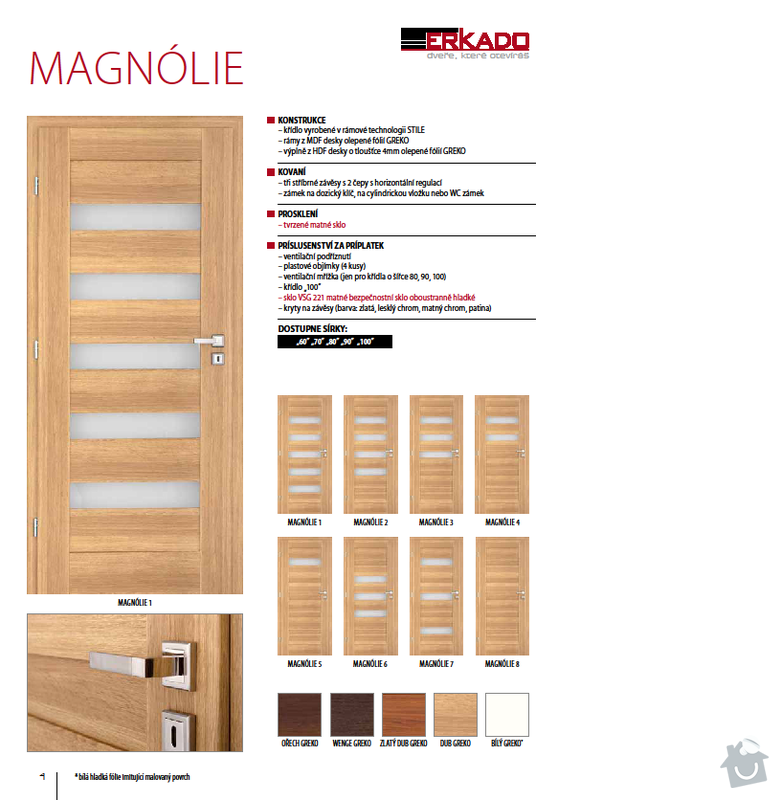 Interiérové dveře: Magnolie