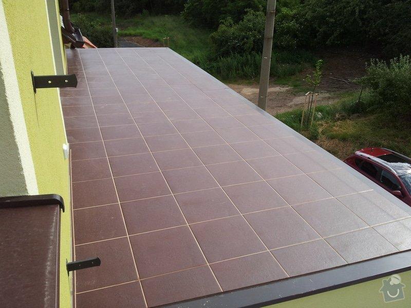 Obkladačské práce a pokládka dlažby: terasa