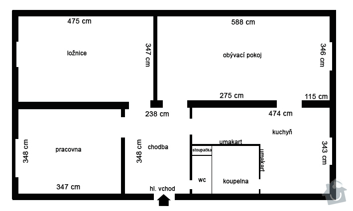 Rekonstrukce bytu 3+1, bytového jádra.: Bez_nazvu-2
