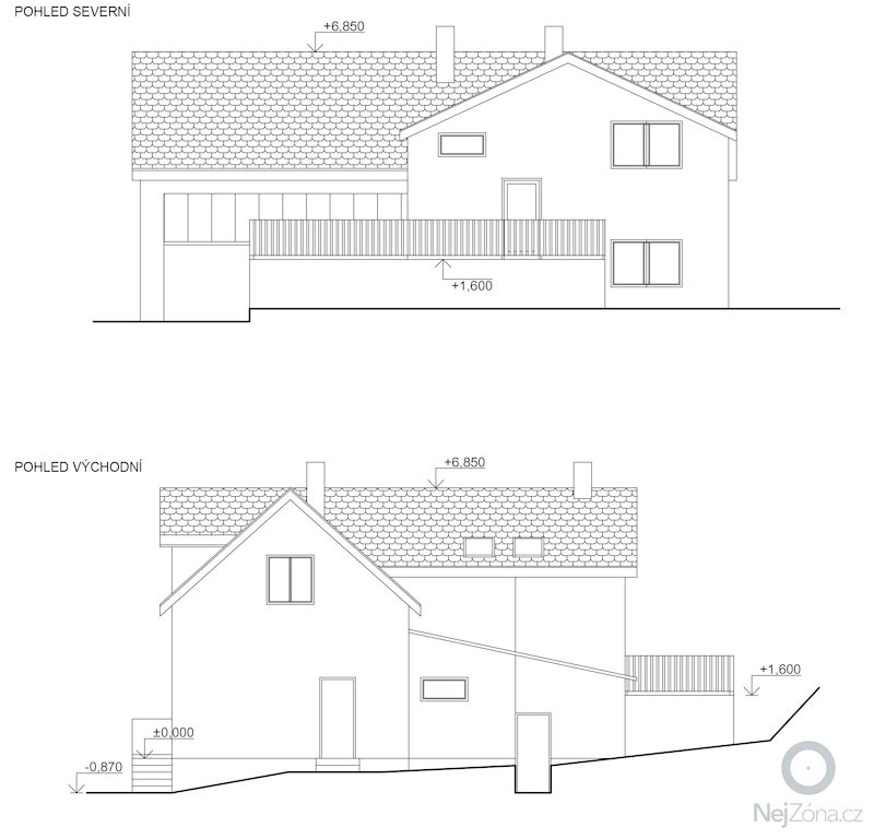 Dostaveni zdi, plus krov a napojeni na stavajici strechu. Dodelani podlahy na nosnou konstrukci z Hurdisek. Terasy.: pohledy