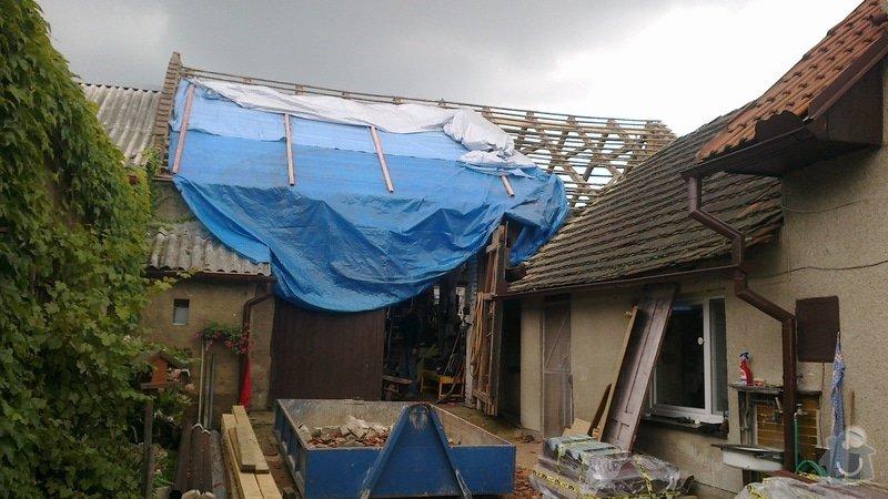 Zhotovení střechy: 2013-08-28-353