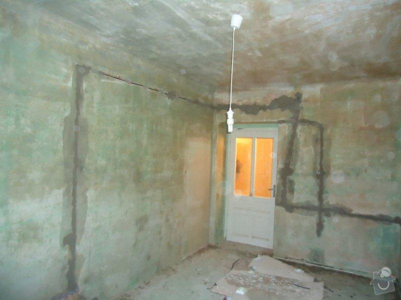 Vyštukování a vymalování pokoje a drobné elektroinstalace + SDK podhled na stropě: DSC02531