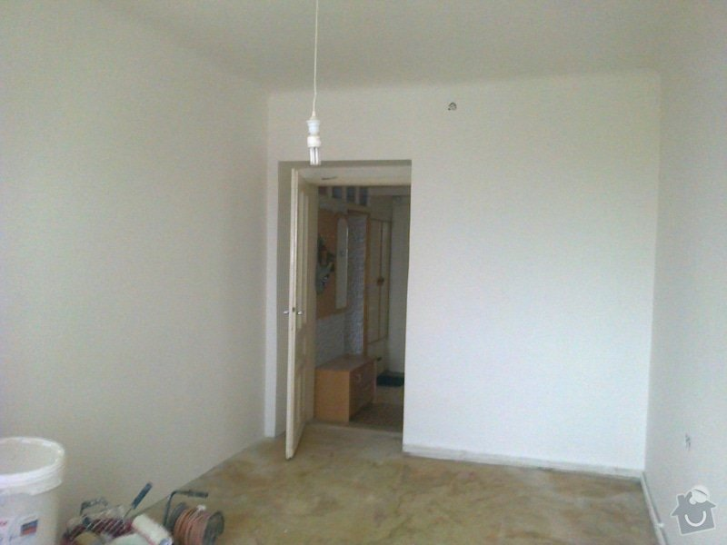 Vyštukování a vymalování pokoje a drobné elektroinstalace + SDK podhled na stropě: 037