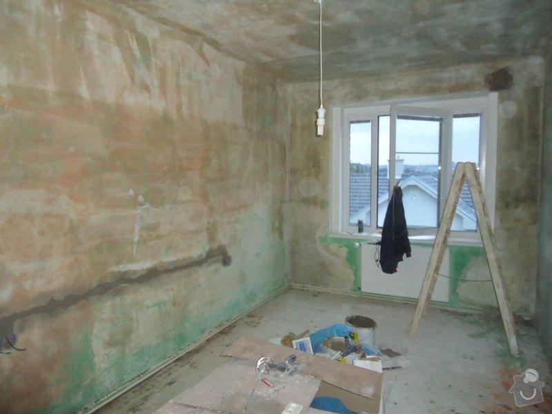Vyštukování a vymalování pokoje a drobné elektroinstalace + SDK podhled na stropě: DSC02532