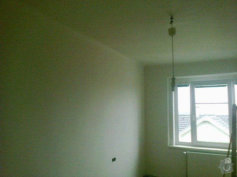 Vyštukování a vymalování pokoje a drobné elektroinstalace + SDK podhled na stropě: 036