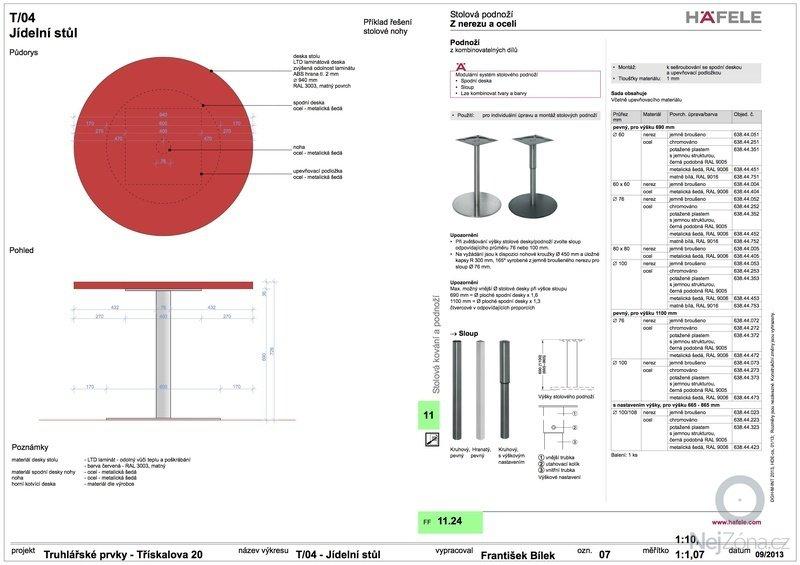 Truhlářské prvky (skříňe a stůl): 07