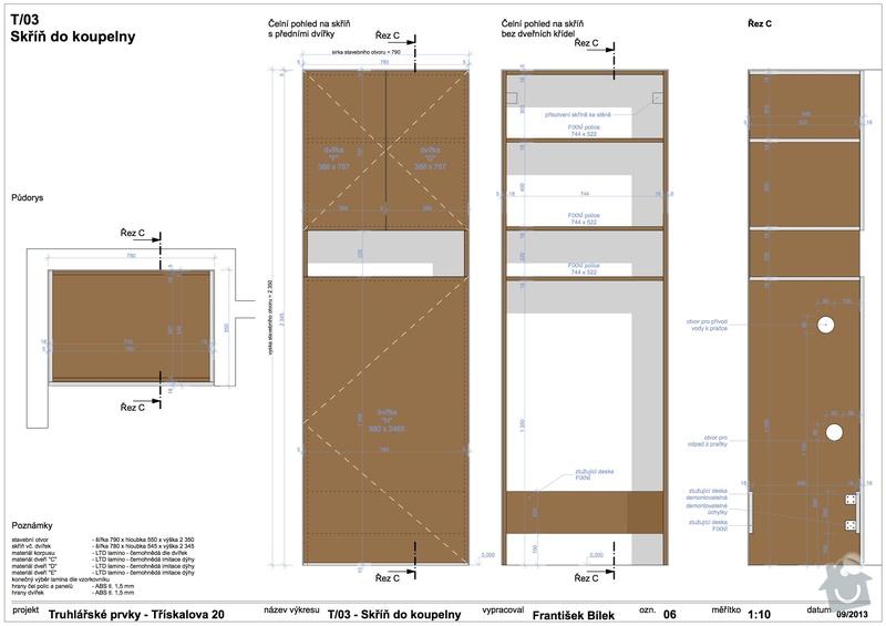 Truhlářské prvky (skříňe a stůl): 06