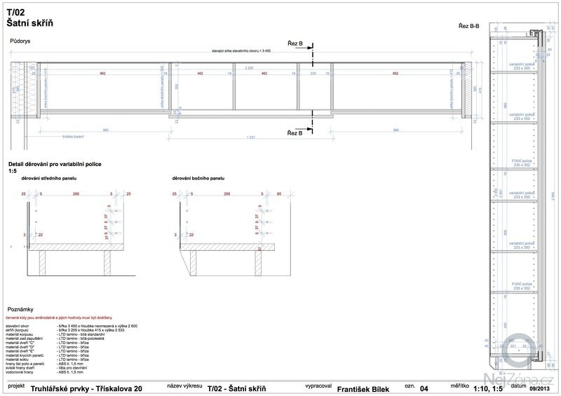 Truhlářské prvky (skříňe a stůl): 04