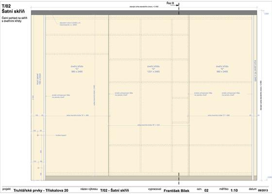 Truhlářské prvky (skříňe a stůl)