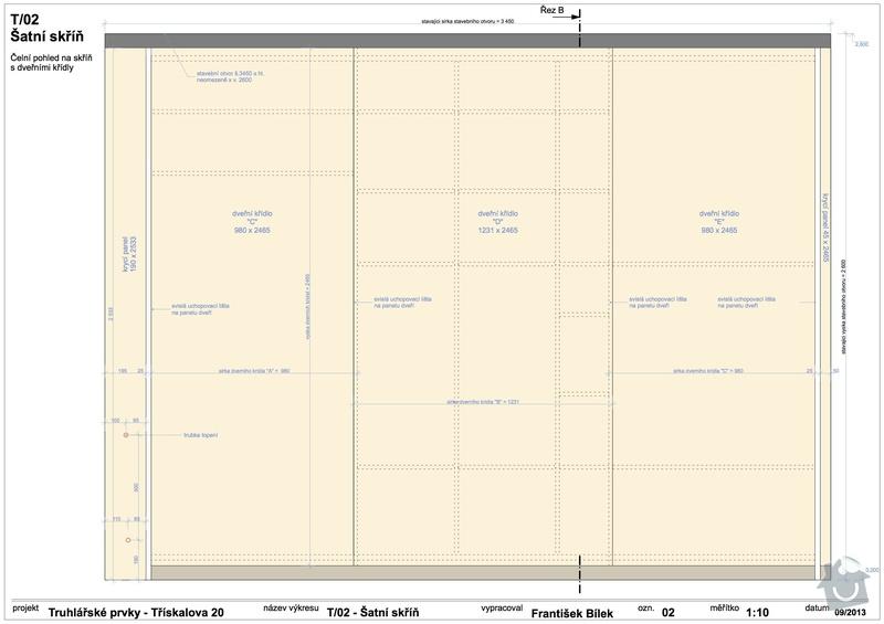 Truhlářské prvky (skříňe a stůl): 02