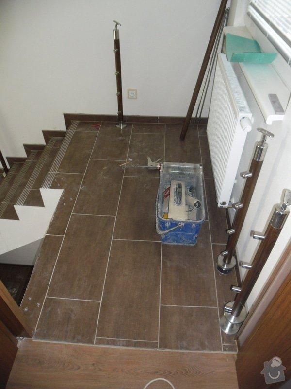Dlažby, obklady v koupělně, WC a na chodbě + omítky v garáži: 003