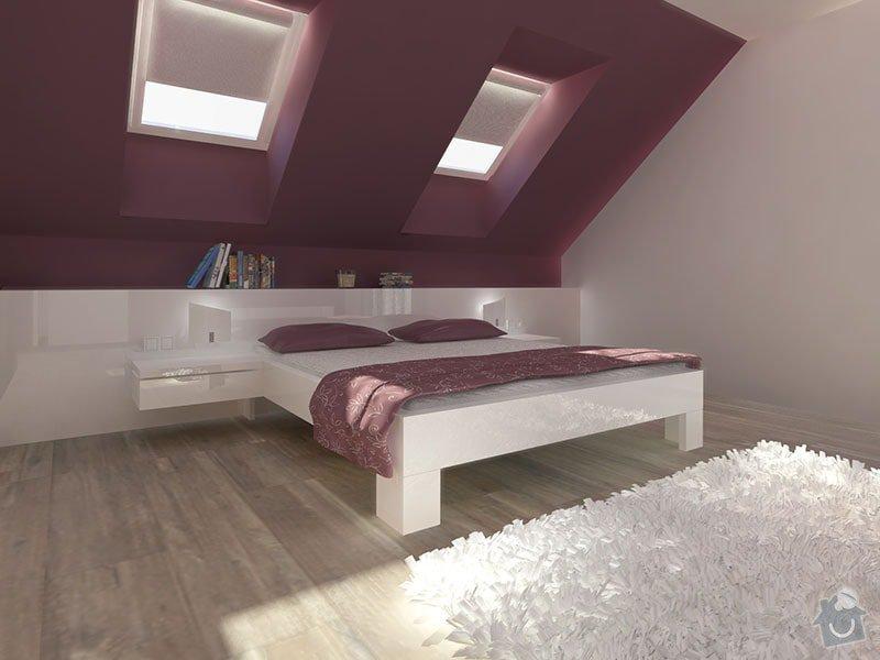 Návrh barevného interiéru rodinného domu: 02_loznice