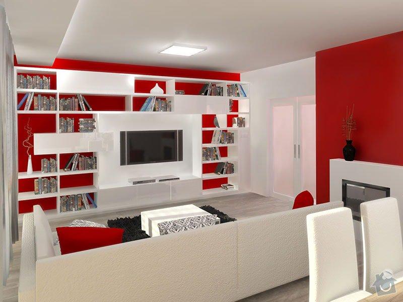 Návrh barevného interiéru rodinného domu: 04_obyvaci_cast
