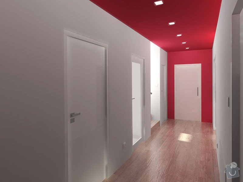 Návrh barevného interiéru rodinného domu: 09_chodba