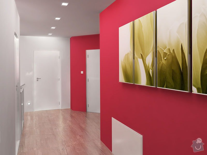 Návrh barevného interiéru rodinného domu: 11_chodba_04