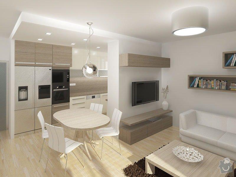 Návrh rekonstrukce bytu 2+1 a řešení interiéru: 01_obytna_cast
