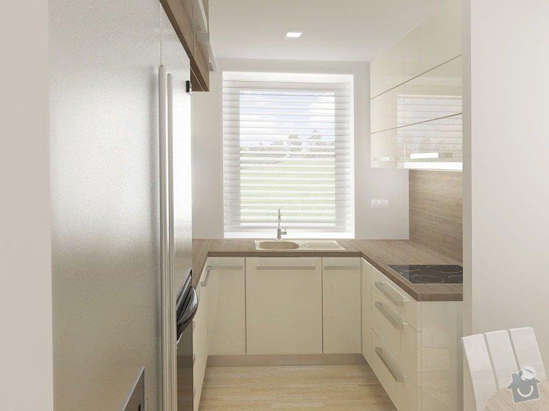 Návrh rekonstrukce bytu 2+1 a řešení interiéru: 02_kuchynska_cast