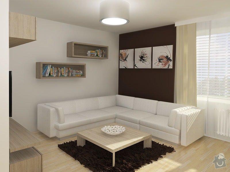 Návrh rekonstrukce bytu 2+1 a řešení interiéru: 03_obyvakova_cast_se_sedackou