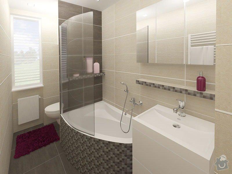 Návrh rekonstrukce bytu 2+1 a řešení interiéru: 05_koupelna