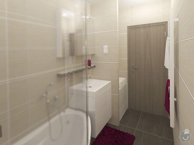 Návrh rekonstrukce bytu 2+1 a řešení interiéru: 06_koupelna