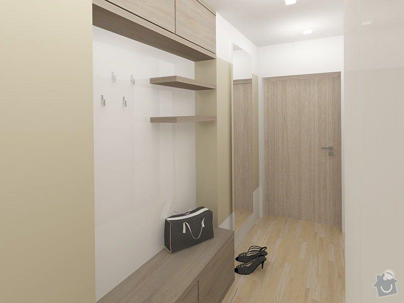 Návrh rekonstrukce bytu 2+1 a řešení interiéru: 07_chodba