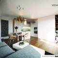 Kuchynska linka obyvaci stena dle zadani designoveho navrhu vizualizace 01