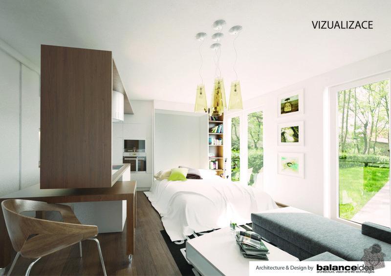 Kuchyňská linka, obývací stěna, dle zadání designového návrhu: vizualizace-03