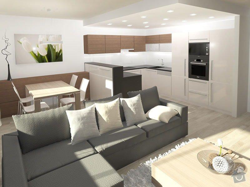 3D návrh kuchyně a obývacího pokoje: 01_pohled_do_kuchynske_casti